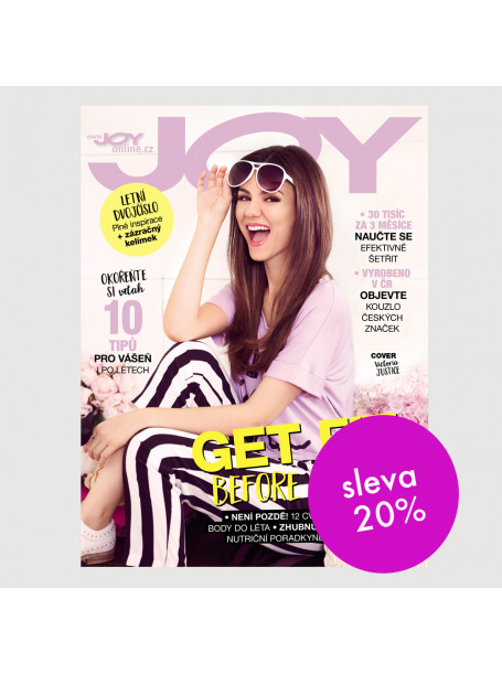 Čtvrtletní tištěné předplatné Joy se slevou 20 %